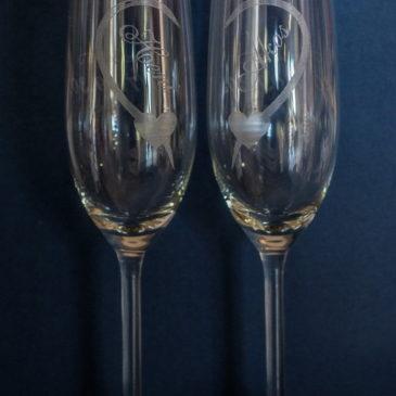 Esküvői pohár gravírozása